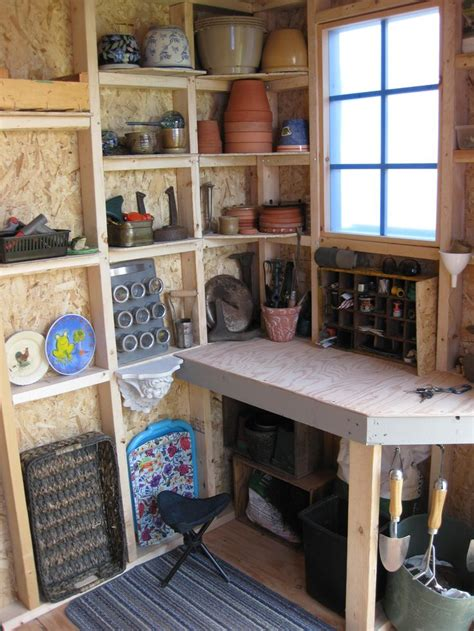 shed potting shed interiors pinterest