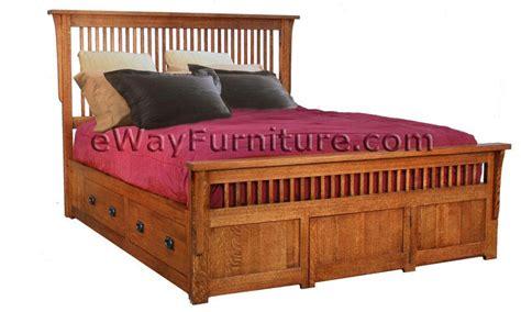 solid oak mission spindle bedroom set solid oak mission spindle storage bedroom set