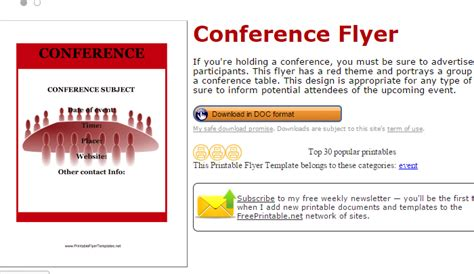 print ad templates 5 conference flyer templates af templates