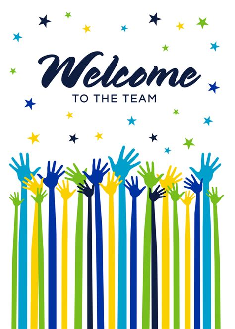 Welcome To The Team Card Template by Welcome To The Team Card Cards For Causes