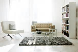 Contemporary Chairs For Living Room Interior White Style Living Room Bookshelf Fur Carpet