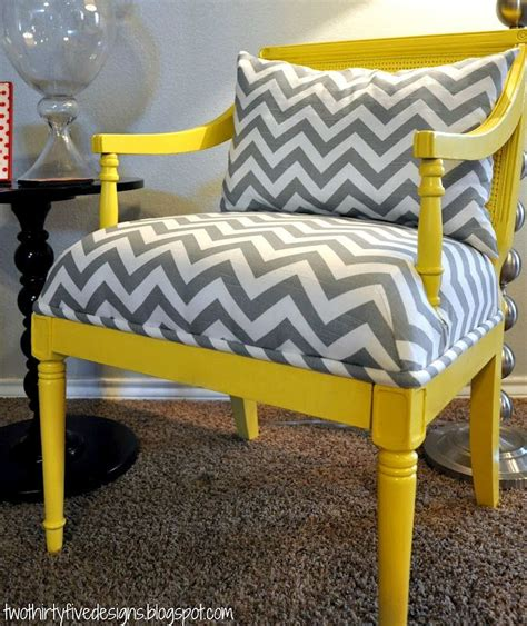Grey And Yellow Chair by Two Thirty Five Designs Master Chair Redo Hoh105 Diy
