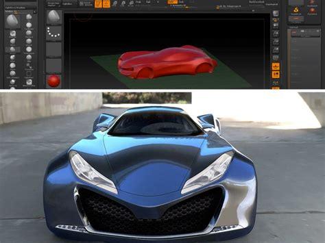 zbrush tutorial car automotive 3d sketch model using zbrush car body design