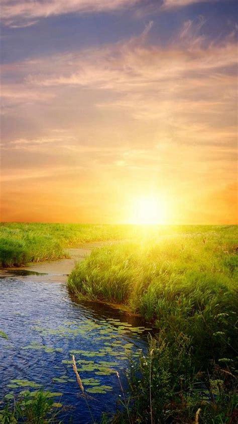 Bts Sunset Iphone 6 7 5 Xiaomi Redmi Note F1s Oppo S6 nature bright lake field landscape nature heals