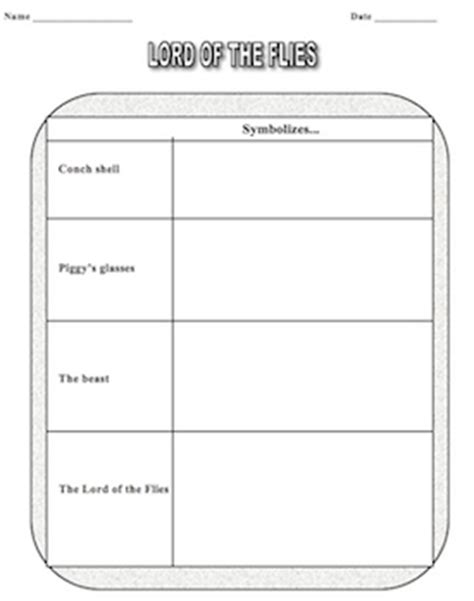 themes from lord of the flies worksheet answers 78 best images about lord of the flies on pinterest