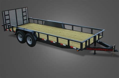 flat bed trailer standard 13000 gvwr utility trailer for sale