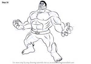 learn draw angry hulk hulk step step drawing tutorials