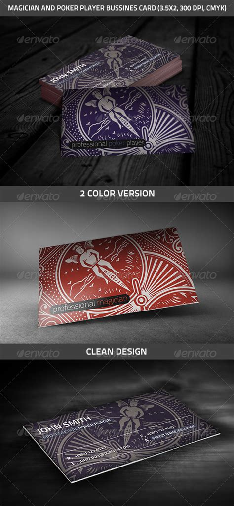 Magician And Poker Player Business Card Graphicriver Magician Business Card Template