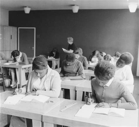 women practising their shorthand at brixton college. c