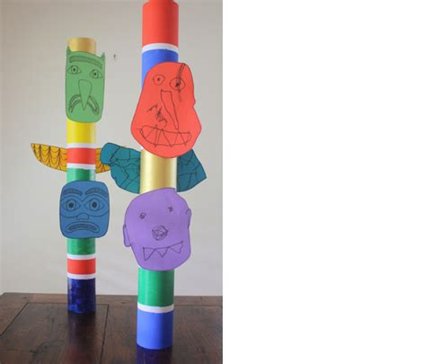 How To Make A Paper Totem Pole - paper crafts kid s totem poles tutorial crafts ideas