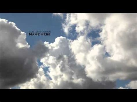 Clouds Titles Sequence After Effects Template Youtube Word Cloud After Effects Template
