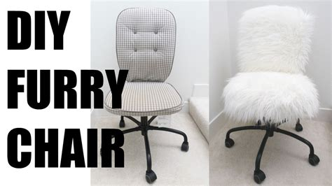 furry desk chair cover diy fur chair more serein youtube