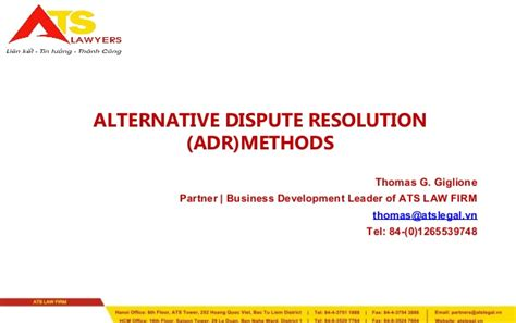 Alternative Dispute Resolution Achmad Romsan alternative dispute resolution