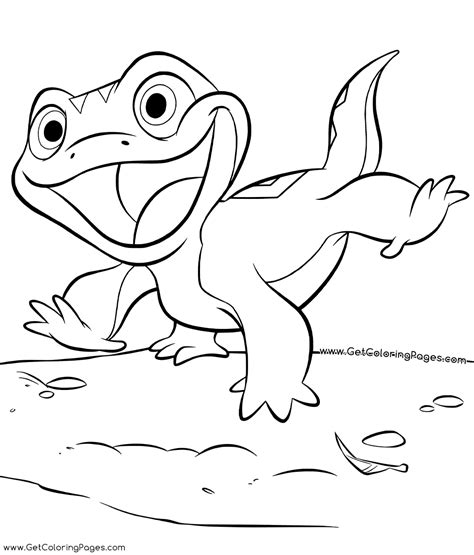 lizard bruni  frozen  coloring pages  coloring pages