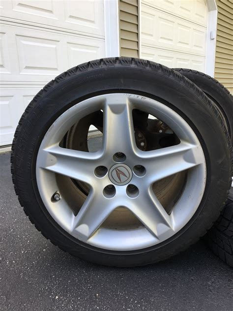 tires for acura tl sold blizzak snow tires on tl oem wheels w tpms