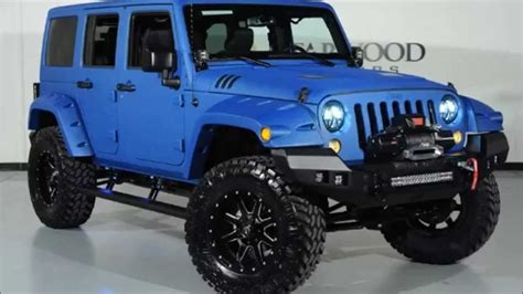 lifted jeep blue 2015 jeep wrangler unlimited sport kevlar coated lifted