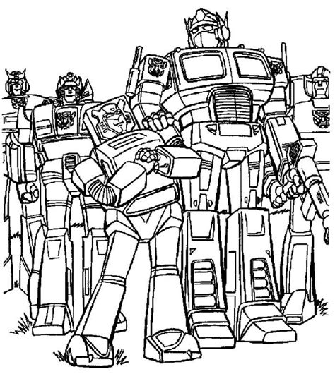 transformers animated coloring page transformer cartoon images coloring home