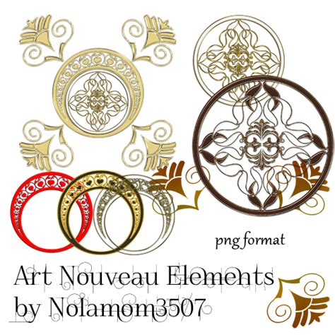 art nouveau elements by nolamom3507 on deviantart