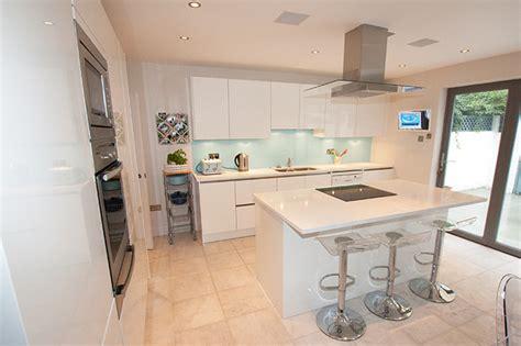 Curved Island Kitchen Designs White Gloss Kitchen Island Contemporary Kitchen
