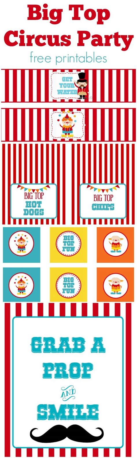 free printable carnival party decorations circus party free printables b pinterest party
