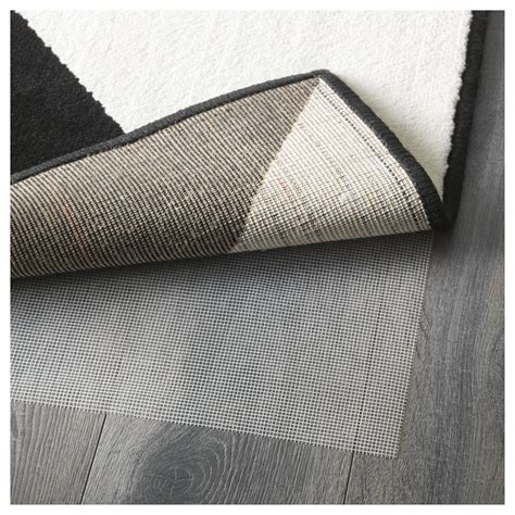 low pile rug sillerup rug low pile black white 200x300 cm ikea