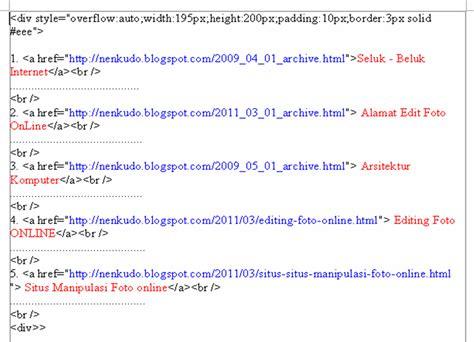 cara membuat daftar isi dari internet cara membuat daftar isi pada blog ala kang rohman top