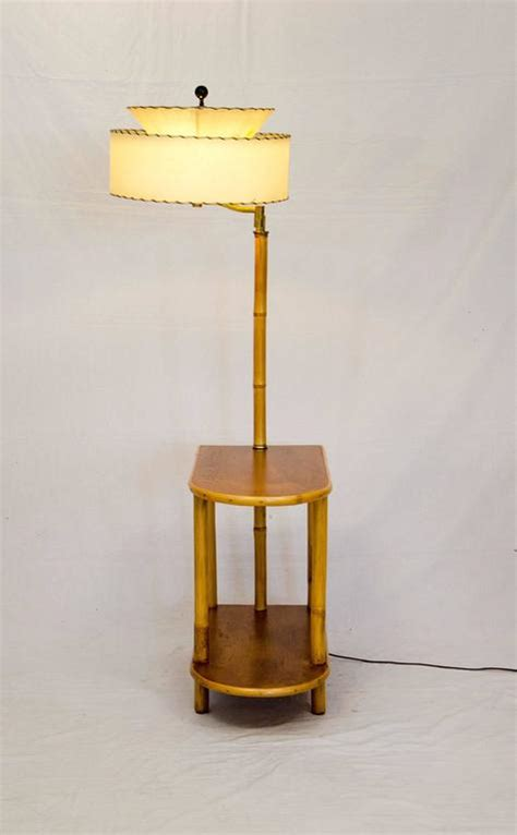 end table with l attached rattan end table with attached l at 1stdibs