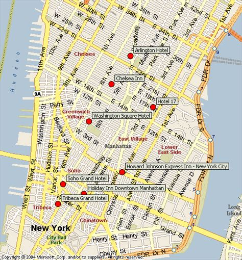 downtown new york city map map of downtown new york city afputra