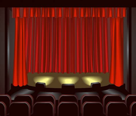 play theater stage clip art fiction university it s showtime show vs tell