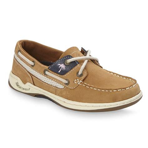 margaritaville boat shoes margaritaville women s martinique tan leather boat shoe