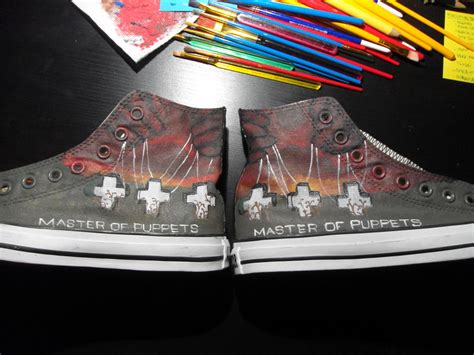 metallica ride the lightning shoes new metallica shoes 1 by dreaminblack4me on deviantart