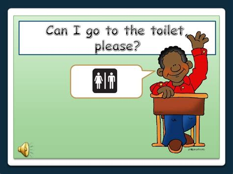 can i go to the bathroom with a ton in english classroom language images