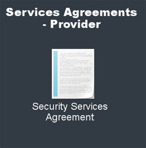security services agreement agreements