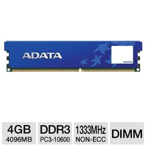 Memory Adata 4gb buy the adata premier srs 4gb ddr3 desktop memory module at tigerdirect ca