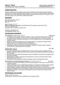 Resume Objective Entry Level Accounting Professional Entry Level Resume Template Writing Resume Sle Writing Resume Sle