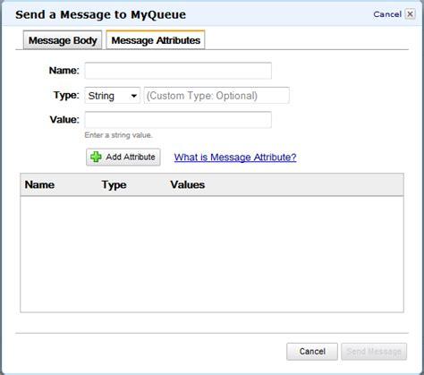 amazon queue message attributes for the amazon simple queue service