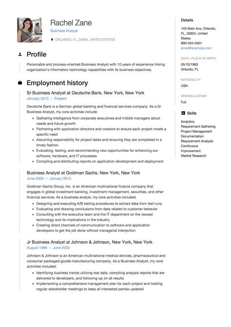12 business analyst resume sle s 2018 free downloads