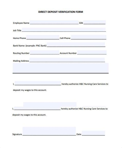 verification of deposit letter template verification form