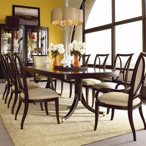 Thomasville Kitchen Table Thomasville 174 Studio 455 Nine Pedestal Table Dining Set Darvin Furniture Dining