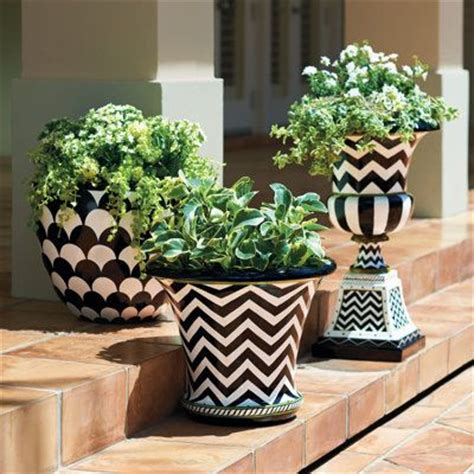 Painted Planters by Grandin Road Zoey Planter Painted Fiberglass And