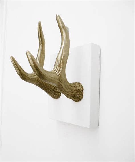 Antler Coat Hooks Gold Faux Antler Coat Hooks By Hodi Home Decor Eclectic
