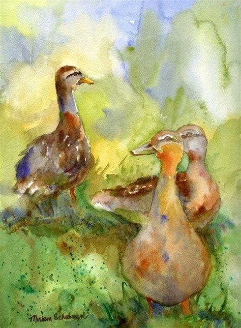 watercolor duck tutorial 141 best watercolor ducks images on pinterest