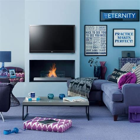 modern blue living room living room decorating ideas