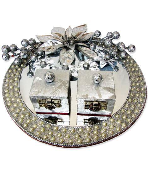 weddingpitara glass engagement ring platter
