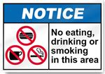eating and drinking area safety signs signstoyou com no food or drink in this area notice signs signstoyou com