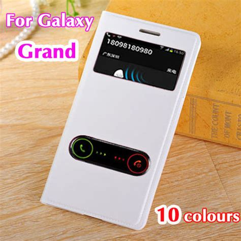 Samsung Galaxy Grand Neo Plus I9082 Custom 1 aliexpress buy battery housing cover view leather flip phone bag for samsung galaxy