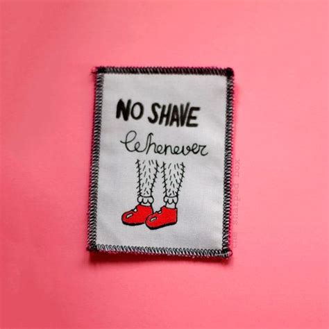Patches Badges Gambar Makanan Lucu Stickers For Clothes no shave whenever patch feminist patch up ink and shape