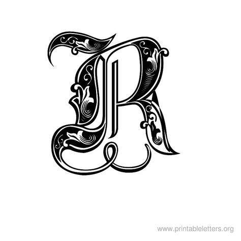 printable large decorative letters printable letters r letter r for kids printable