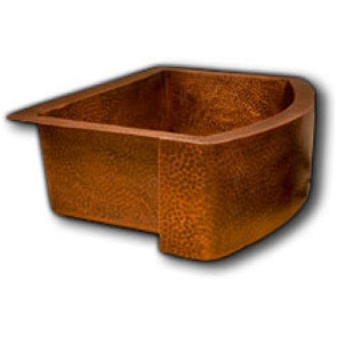 hammered copper kitchen sink hammered finish copper single bowl curved front farm