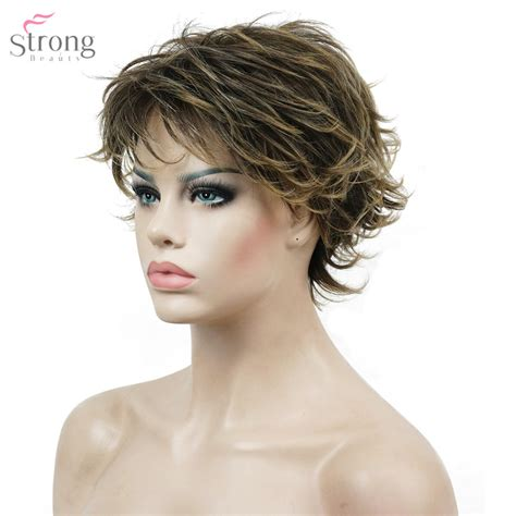 messy hair styles with frost ing done aliexpress com buy strongbeauty women s short straight